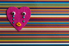Crying toy heart. Royalty Free Stock Photography