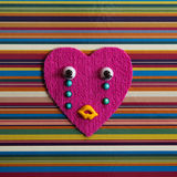 Crying toy heart. Royalty Free Stock Photos