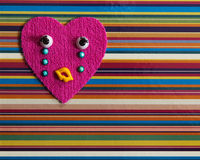 Crying toy heart. Royalty Free Stock Photo