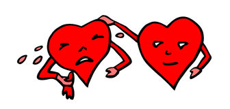 Crying valentine heart Royalty Free Stock Image