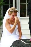 crying wedding Στοκ Εικόνα