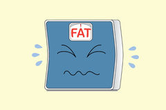 Crying Weight Scale Royalty Free Stock Photography