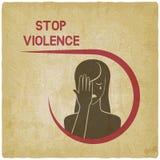 crying woman η μαύρη έννοια παραδίδει τη βία όψης στάσεων διανυσματική απεικόνιση