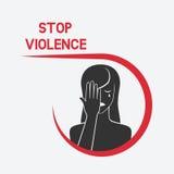 crying woman η μαύρη έννοια παραδίδει τη βία όψης στάσεων ελεύθερη απεικόνιση δικαιώματος