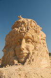 Crying Woman. 2nd sand statues festival in Bourgas, Bulgaria - 2009 royalty free stock images