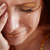 Crying woman royalty free stock image