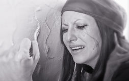 Crying woman Stock Images