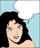 Crying woman. Illustration of a crying woman in a pop art/comic style and speech bubble Royalty Free Stock Photo
