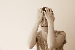 Crying woman Stock Image