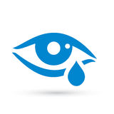 Crying woman eye tear icon stock illustration