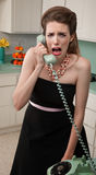 Crying Woman on Phone Stock Image
