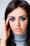 Crying woman towards Stock Photography