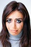 Crying woman towards Stock Image