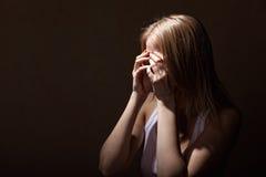 Crying woman Royalty Free Stock Photo