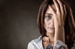 Crying woman stock photography