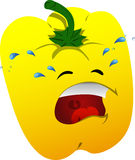 Crying yellow bell pepper Royalty Free Stock Image