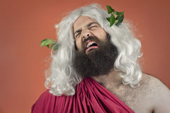 Crying Zeus Stock Photo