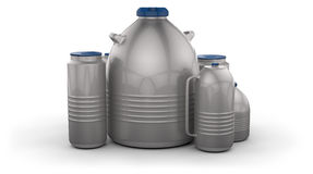 Cryogenic Dewar flasks Royalty Free Stock Image