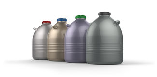 Cryogenic Dewar flasks Royalty Free Stock Images