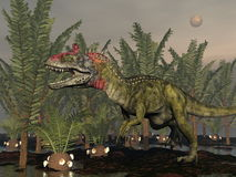 Cryolophosaurus dinosaur - 3D render Stock Photography