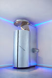 Cryotherapy capsule in cosmetology clinic. Cryo sauna for whole body cryotherapy treatment Stock Photography