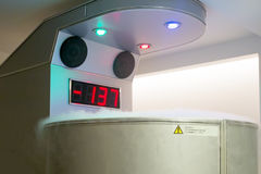 Cryotherapy capsule in wellness clinic Royalty Free Stock Image