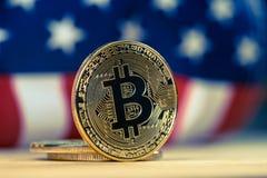 Crypocurrency de Bitcoin Imagen de archivo
