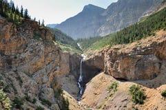 Crypt湖在Waterton国家公园,亚伯大,加拿大 库存照片