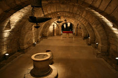 crypt εσωτερικό Στοκ Εικόνες