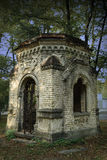 Crypt. Old crypt in the forest stock photography