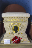 Crypt Of Adam Asnyk. The Tomb Of Adam Asnyk ,the Polish poet and playwright.The crypt of the Distinguished in the Skałka Church stock photos