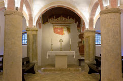 Crypt of the Duomo of Spilimbergo Royalty Free Stock Images