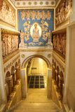 Crypt Entrance. Entrance to the crypt in Pecs cathedral in Hungary Royalty Free Stock Photo