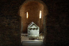 Crypt. Of Euphrasian Basilica containing the remains of two saints - St Maurus and St Eleuterius stock images