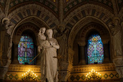 Crypt of Fourviere Basilica Stock Photo