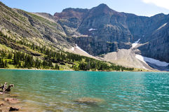 Crypt lake in Waterton National Park, Alberta, Canada Royalty Free Stock Image