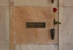 crypt marilyn monroe s Royaltyfri Fotografi