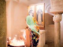 Crypt in The Pontifical Basilica di San Nicola Basilica of Saint Nicholas, Apulia, southern Italy. royalty free stock photos
