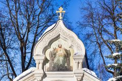 Crypt of Pozharsky in Monastery St Euthymius. Top of Crypt of Prince Dmitry Mikhailovich Pozharsky in Monastery of Our Savior and St Euthymius in Suzdal town in Stock Image