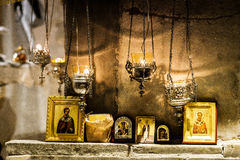 Crypt of Saint Nicholas Stock Images