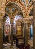 Crypt Santa Cecilia w Trastevere kościół w Rzym, Włochy fotografia stock
