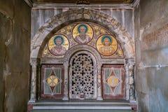Crypt Santa Cecilia w Trastevere kościół w Rzym, Włochy zdjęcie stock
