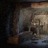 Crypt with scattered bones Royalty Free Stock Photography