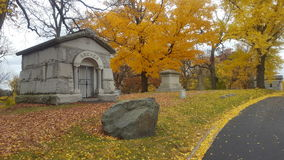Crypt. A small crypt at Woodland Cemetery in Dayton, Ohio stock images