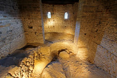 The Crypt at Tyrol Castle (Schloss Tirol) in Italy Stock Images