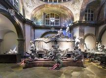 Crypt van de Habsburger-Koningen in Wenen Stock Foto's