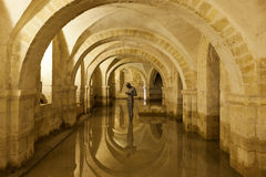 Crypt of Winchester Cathedral Royalty Free Stock Photo