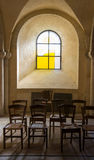 Crypt Window. Crypt of the Roman Catholic cathedral in Nevers, France royalty free stock images
