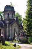 Crypt zabytku cmentarz Obraz Stock