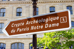 Crypte archéologique Stock Photos